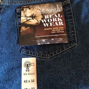 NWT 42 x 32 RK Real Work Wear Jeans